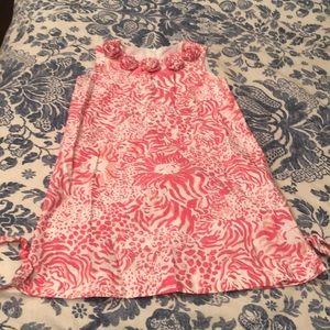 Lilly Pulitzer girls size 6 pink lion shift dress